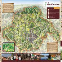 Karta vinske ceste Križevci
